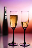 Two Champagne toast cups Stock Photo