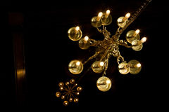 Two chandeliers. A photo of two chandeliers Royalty Free Stock Photo