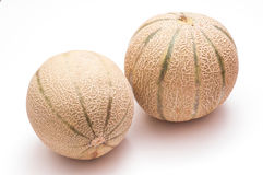 Two Charentais melons Stock Photography