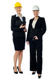 Two charismatic female architects Royalty Free Stock Photography