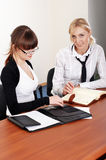 Two charming business woman Royalty Free Stock Image