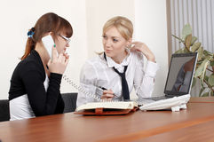Two charming business woman Stock Photo