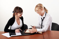 Two charming business woman Royalty Free Stock Photo