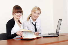 Two charming business woman Royalty Free Stock Photography