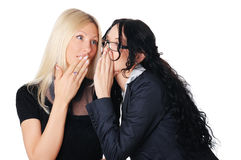 Two charming business women Royalty Free Stock Photos