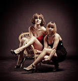 Two charming girls Royalty Free Stock Images