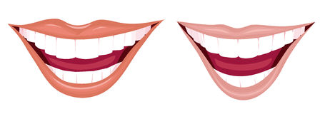 Two charming smiles. With a good white, healthy teeth Royalty Free Stock Image