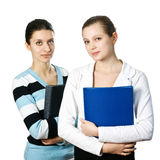 Two charming young business women Royalty Free Stock Photography