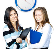 Two charming young business women Royalty Free Stock Images