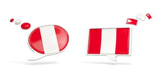 Two chat icons with flag of peru Royalty Free Stock Images