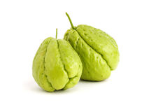 Two Chayote isolated on white Royalty Free Stock Photo