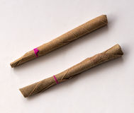 Two of the Cheap Indian Beedi Cigarette. Stock Image