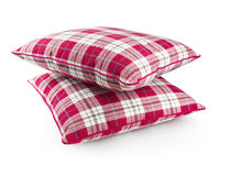 Two checked pillows. Two pillows with clipping path Royalty Free Stock Photography