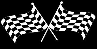 Two checkered flags Royalty Free Stock Photography