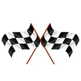 Two checkered flags Royalty Free Stock Photo