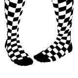 Two Checkered Socks Royalty Free Stock Photo