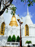 Two chedis with European style of royal cemetry at Wat Ratchabopit Royalty Free Stock Image