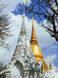 Two chedis of Wat Ratchabopit Royalty Free Stock Images