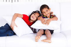 Two cheerful African-American children royalty free stock photo