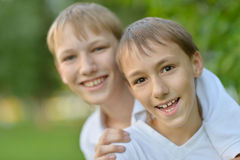 Two cheerful boys Royalty Free Stock Photography