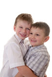Two cheerful brothers Royalty Free Stock Photos