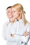 Two cheerful businesswomen Stock Images