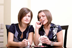 Two cheerful girls. Stock Image