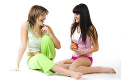 Two Cheerful Girls Royalty Free Stock Photo