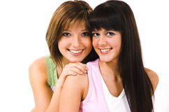 Two cheerful girls Royalty Free Stock Photography