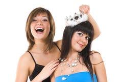 Two cheerful girls Stock Photo
