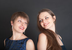Two cheerful girls Stock Photo