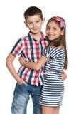 Two cheerful kids Stock Photo