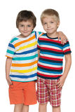 Two cheerful little boys Stock Photography