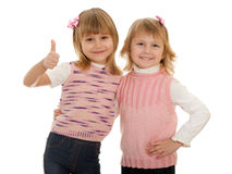 Two cheerful little girls Stock Image