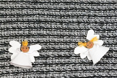 Two cheerful paper angel Royalty Free Stock Photography