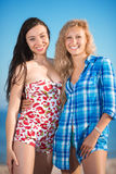 Two cheerful women Stock Photos