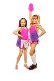 Two cheerleaders Royalty Free Stock Photos