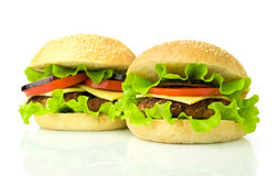 Two cheeseburgers Stock Photography