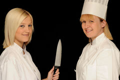 Two chefs Stock Photography
