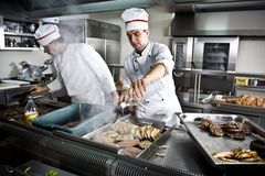 Two chefs Stock Images