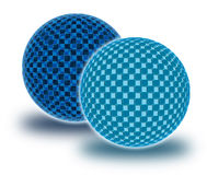 Two chekered spheres Royalty Free Stock Photo