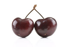 Two Cherries Royalty Free Stock Photos