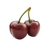 Two cherry Royalty Free Stock Images