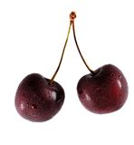 Two cherry. From the fridge Stock Photo