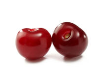 Two cherry berries close-up Royalty Free Stock Photography