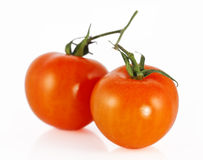 Two cherry tomatoes Stock Photography