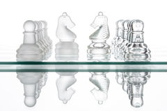 Free Two Chess Horses, Business Face To Face War Stock Photography - 60096282
