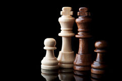 Two chess king Royalty Free Stock Images