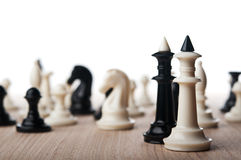 Two chess kings Royalty Free Stock Image