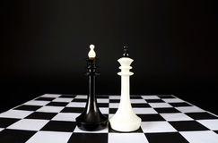Two chess kings. Battle of equal competitors Stock Photography